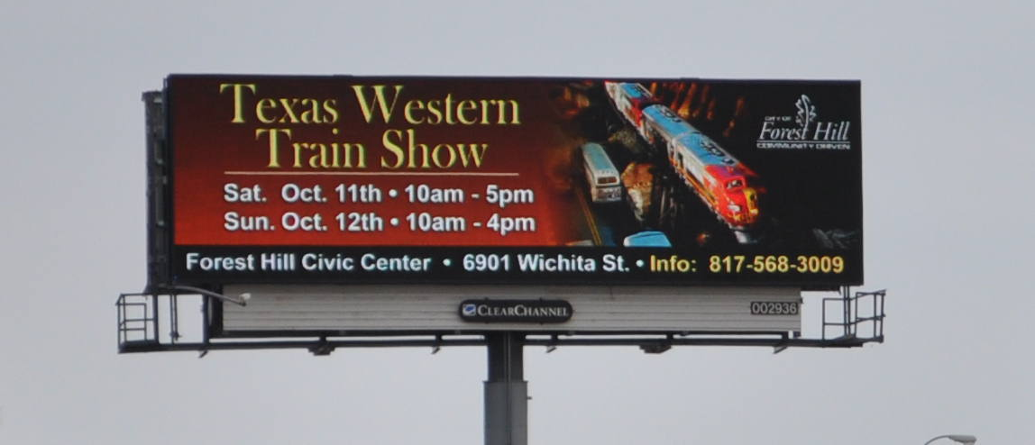 Train Show Billboard
