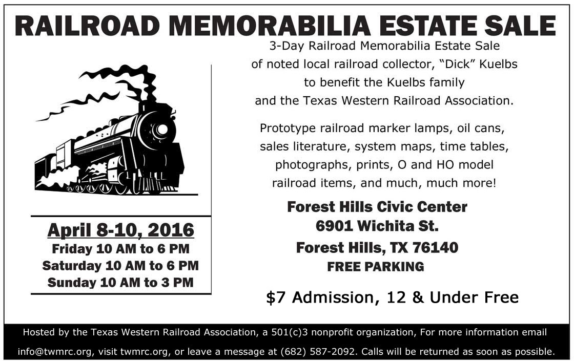Railroad-Memorabilia-Estate-Sale-NTX NRHS flyer